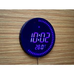 LED壁掛け丸型ウォールクロック デジタルタイプ(LED002DBL)<ブルー(ブルーLED)>|kitchen