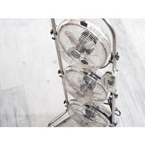 3連タワー型メタルBOX扇風機(アロマケース付き)(MBM-2381/ASM)<シルバー>|kitchen