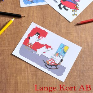 ラングアート ムーミン ポストカード ( M1064 ) GIFTCARD Lange Kort Moomin MOOMIN ギフトカード 北欧|kitchen