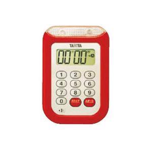 大音量タイマー100分計<TD-377><レッド>|kitchen