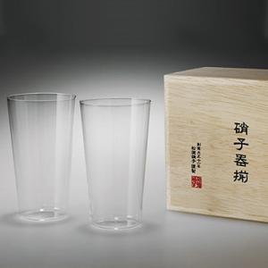 松徳硝子 うすはり タンブラー (木箱入り) 2個セット 【 グラス コップ ビールグラス ギフト 】(2741020)<M>|kitchen