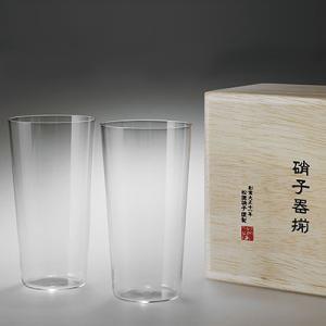 松徳硝子 うすはり タンブラー (木箱入り) 2個セット 【 グラス コップ ビールグラス ギフト 】(2761020)<L>|kitchen