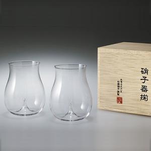 松徳硝子 うすはり 大吟醸 木箱入り ペア ( 2個セット ) 吟醸酒 冷酒グラス グラス ギフト プレゼント 贈答品|kitchen