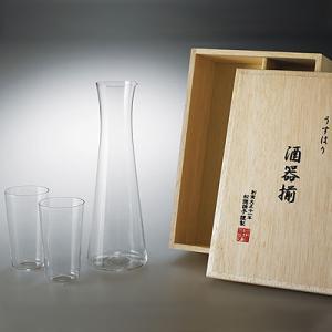 松徳硝子 うすはり 酒器揃 (木箱入り) 【 グラス コップ タンブラー 徳利 ギフト 】(2891020)|kitchen