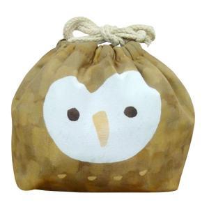 東洋ケース お弁当袋 おかおきんちゃく フクロウ 保冷ランチ巾着 KT-KAO-FUKUO |kitchen