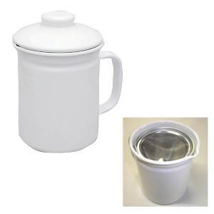ホシマル印 ホーロー オイルポット ホワイト ホームピッカー 1L 大一アルミニウム製作所 油こし kitchen