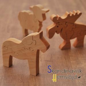 [ 3点までメール便可 ] スカンジナビスク ヘムスロイド パズルのオブジェ 選べる3デザイン ムース ダーラナホース ヒツジ|kitchen