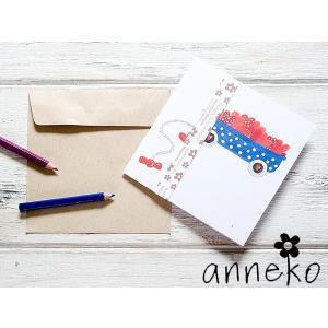 anneko design/アネッコデザイン グリーティングカード 《GIFTCARD》(S1136)<ハート>|kitchen