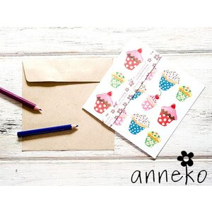 anneko design/アネッコデザイン グリーティングカード 《GIFTCARD》(S1129)<カップケーキ>|kitchen