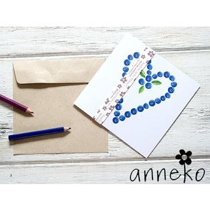 anneko design/アネッコデザイン グリーティングカード 《GIFTCARD》(S101)<ブルベリー/ハート>|kitchen
