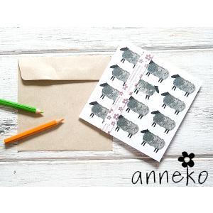 anneko design/アネッコデザイン グリーティングカード 《GIFTCARD》(S103)<ひつじ>|kitchen