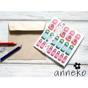 anneko design/アネッコデザイン グリーティングカード 《GIFTCARD》(S1202)<マジョリーシュカ> kitchen