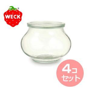 WECK/ウェック DECO SHAPE/デコシェイプ (口径Lサイズ) (WE-748)<1000mL> 4個セット 【 アドキッチン 】|kitchen