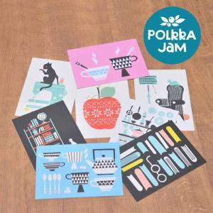 [ メール便可 ] フィンランドデザイナー ポルッカ・ジャム ポストカード 選べる8柄 [ GIFTCARD ] [ Polkka Jam ギフトカード グリーティングカード ]|kitchen