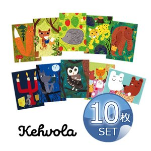 [ メール便送料無料 ] フィンランドデザイナー マッティ・ピックヤムサ ポストカード 10枚セット [ Matti Pikkujamsa ケフボラ Kehvola Design 北欧 ]|kitchen