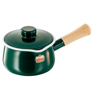 富士ホーロー ソリッド ミルクパン15cm SD-15M・G(グリーン)|kitchen