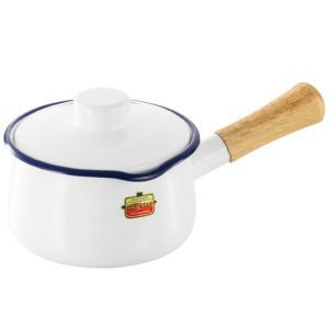 富士ホーロー ソリッド ミルクパン15cm SD-15M・W(ホワイト)|kitchen