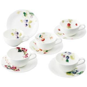 NARUMI(ナルミ) ルーシーガーデン アソートティー・コーヒー5客碗皿 96010-23067P 《 ギフト プレゼント 御祝 内祝 》|kitchen