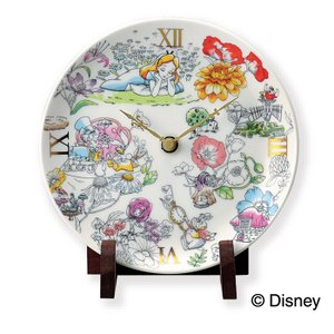 Disney ディズニー ふしぎの国のアリス 陶時計( D-AL01 ) 【 前畑 Alice 陶器 置時計 化粧箱入り 】|kitchen