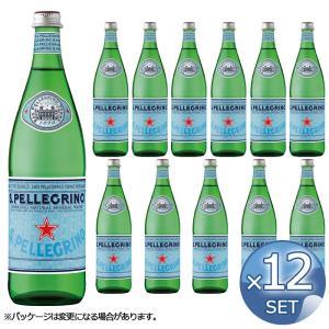 【12本】サンペレグリノ S.PELLEGRINO 炭酸入りナチュラルミネラルウォーター 750mL(瓶)  【送料無料直送】※北海道 沖縄 離島 一部地域は別途送料|kitchen