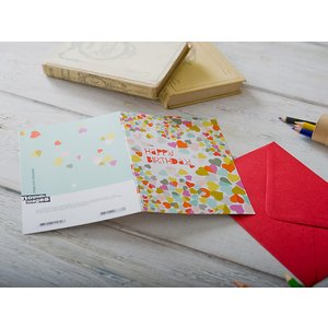 Nouvelles Images/ヌーヴェルイマージュ グリーティングカード 《GIFTCARD》(6838)<Happy Birthday Hearts>|kitchen