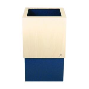 ゴミ箱 10L W CUBE ダークブルー|kitchen
