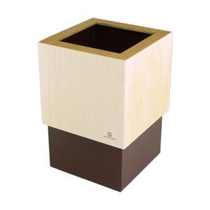 ゴミ箱 4L W CUBE ブラウン|kitchen