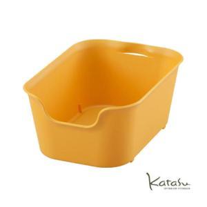 収納ボックスKatasu(カタス) ハコ S  イエロー カラーボックス|kitchen