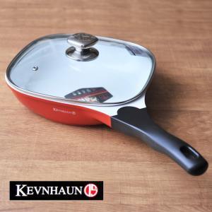 ケヴンハウン スクウェアフライパン(24cm)蓋付(KDS211)<オレンジレッド> kitchen