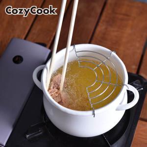 【 送料無料 】コージークック ホーロー ミニ天ぷら鍋 16cm ( ホワイト ) IH対応 琺瑯 ほうろう 天ぷら鍋|kitchen
