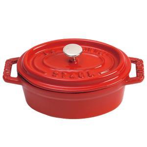 Staub/ストウブ ピコ ココット オーバル 11cm CR40509-807(CR40509-807)<11cm/チェリー>|kitchen