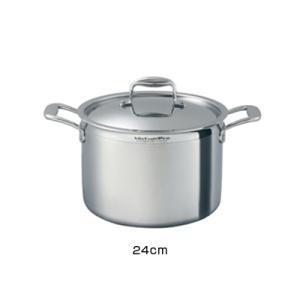 ビタクラフト プロ 半寸胴鍋 (蓋付) 24cm ( No.0223 ) kitchen