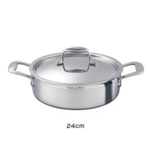 ビタクラフト プロ 外輪鍋 (蓋付) 24cm ( No.0233 )|kitchen