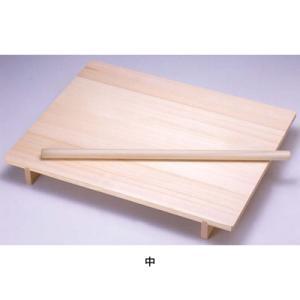 木製 のし板 めん棒付 (桐材) 中 <中>|kitchen