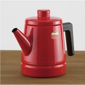Soid Series 富士ホーロー ソリッド コーヒーポット 1.6L <赤>SD-1.6CP・R 【IH対応 ケトル】|kitchen