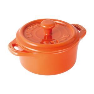 ストウブ セラミック ラウンドミニココット 40511-085 <オレンジ>|kitchen