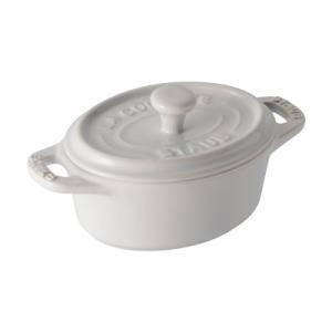 ストウブ セラミック オーバルミニココット 40511-089 <ホワイト>|kitchen