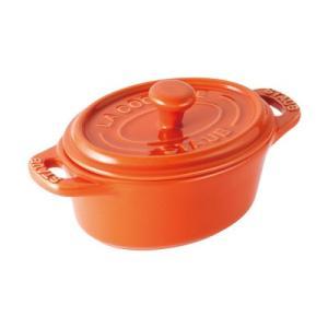 ストウブ セラミック オーバルミニココット 40511-091 <オレンジ>|kitchen