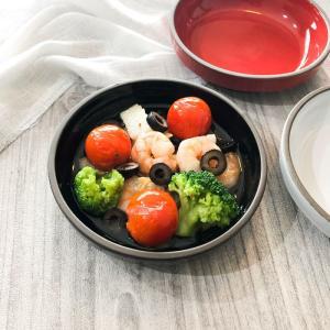 グラタン皿 グリルシェフ スタック アヒージョ ブラック 14.5cm アヒージョ皿 陶器 オーブン トースター レンジ 耐熱皿 重なる kitchengoods-bell