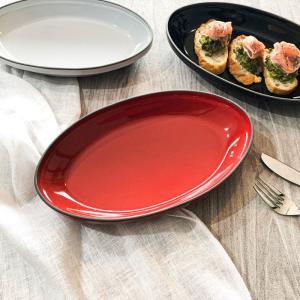 グリルシェフ スタック楕円グラタンL レッド オーブンウェア ディッシュ 皿 食器 耐熱 グラタン 製菓 オーブン料理 グリル 調理 時短  おしゃれ 2人から3人用 kitchengoods-bell