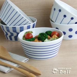 藍染めボウル 中 13.3cm 選べる5柄 煮物鉢/サラダボウル/日本製/中鉢/ボール|kitchengoods-bell