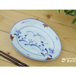 ●商品詳細情報 楕円形のお皿です、分け皿、取り皿に最適。 ツキを連れてくるといわれる兎、愛らしく縁起...