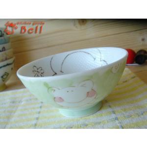 ご飯茶碗 粒粒 フロッグ キッズ ご飯茶わん 孫平 子供茶碗 小ぶり 業務用食器|kitchengoods-bell