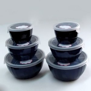 保存容器 陶器 蓋付き 食器セット タッパーセット ネプチューン 6個セット|kitchengoods-bell