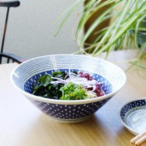 蒼い器しずく7.0鉢 ラーメン鉢 うどん丼 大鉢 麺丼 盛り鉢 藍染 日本製 ボウル|kitchengoods-bell