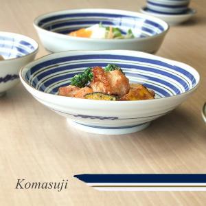 和食器 駒筋 17cm 深皿 浅鉢 和食器中鉢 和食器煮物鉢 サラダボウル kitchengoods-bell
