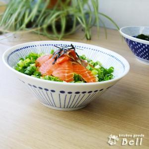 蒼い器 はなび 7.0鉢 ラーメン鉢 うどん丼 大鉢 麺丼 盛鉢 藍染 ボウル|kitchengoods-bell