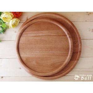 ピザプレート 木製 ライトブラウン 33cm ピザ 大皿 丸皿 kitchengoods-bell