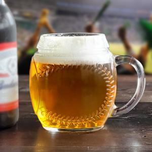 ビールジョッキ600 スポーツマグ ベースボール 野球ボール形 ビア ビールグラス ハイボール 酎ハイ おしゃれ おもしろ|kitchengoods-bell