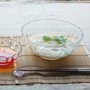 アルカド 素麺 大鉢 20cm ガラス ボウル そうめん 鉢/ガラス盛り鉢/ガラス食器/涼食器/透明食器/ガラス器/深大ボール/業務用食器|kitchengoods-bell